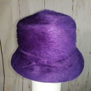 Vintage Mr. Theodore purple kangaroo fur hat